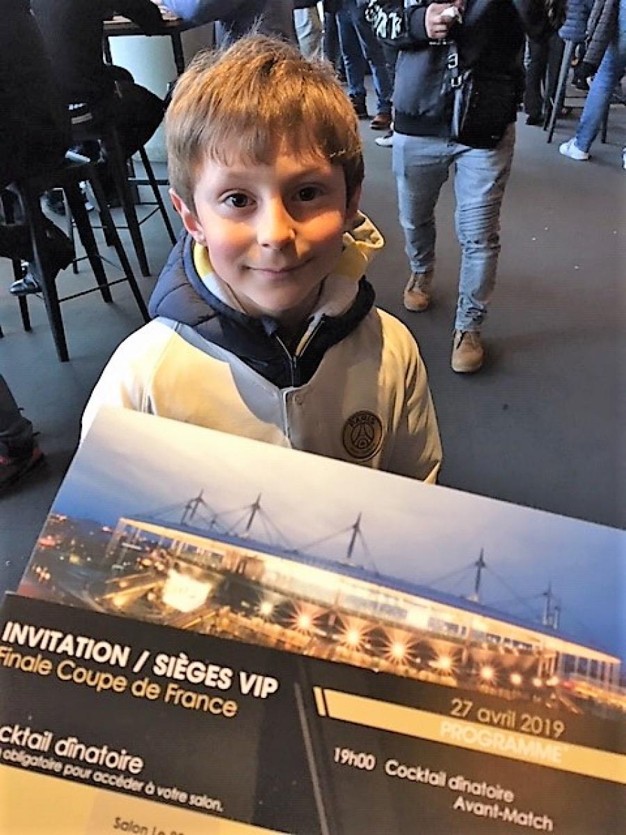 Yoan, fan du PSG, a assisté à la finale de la coupe de France avec accueil VIP!!