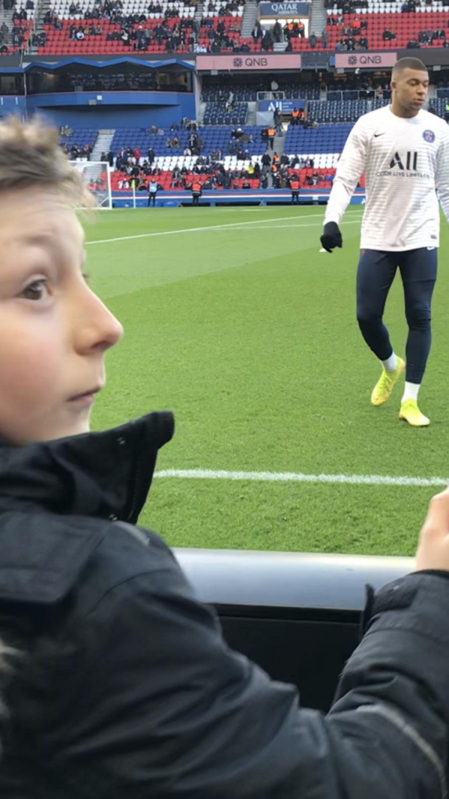 Yoan et sa journée magique avec les joueurs du PSG