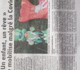 Bel article dans Vosges Matin le 8 octobre